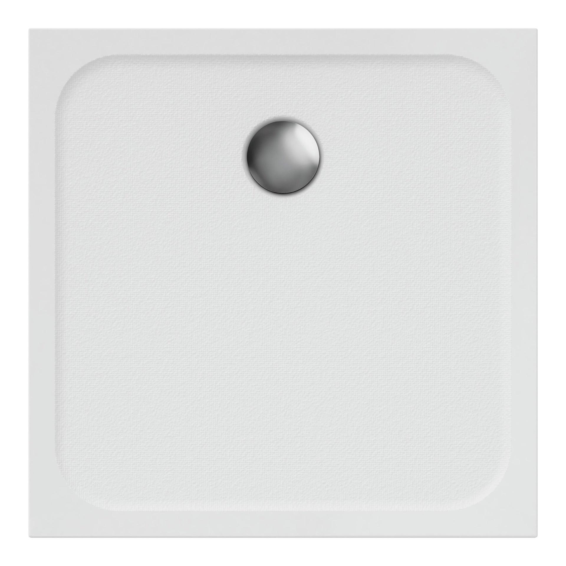 Piatto doccia resina sintetica e polvere di marmo Easy 80 x 80 cm bianco - 4