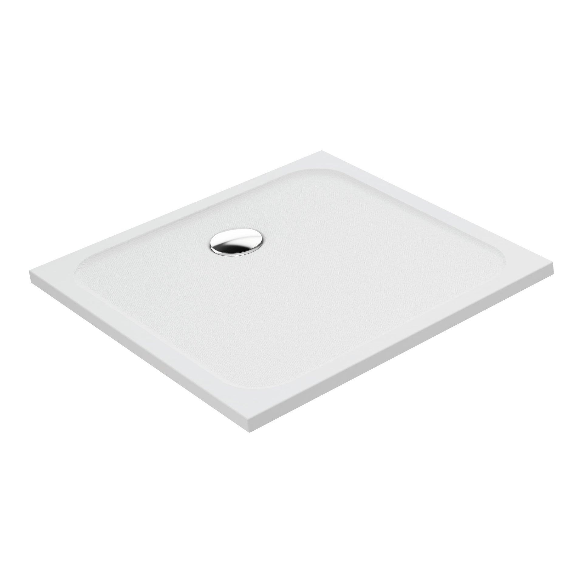 Piatto doccia resina sintetica e polvere di marmo Easy 80 x 80 cm bianco - 2