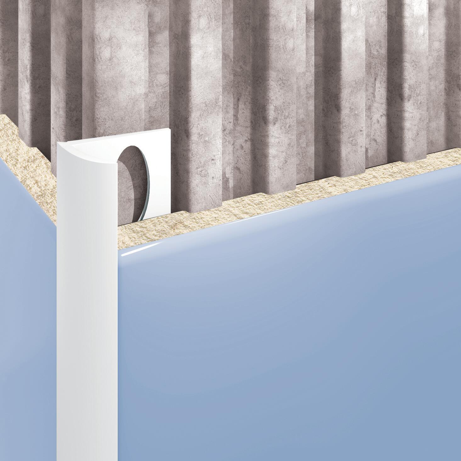 Profilo angolare interno in pvc Sp 25 mm L 250 cm bianco - 2
