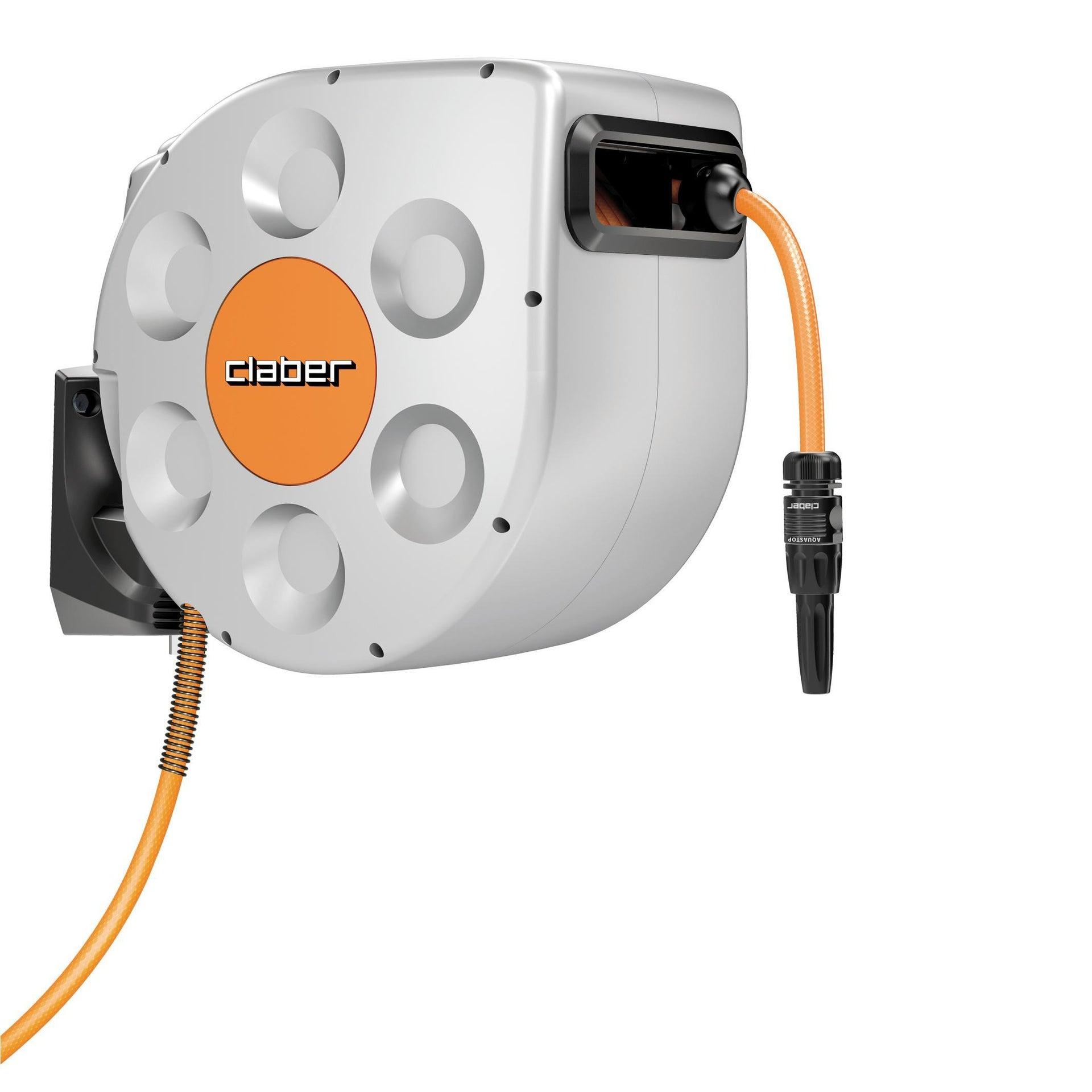 Avvolgitubo equipaggiato autoavvolgente da parete CLABER Rotoroll Evolution tubo da 20 m - 2