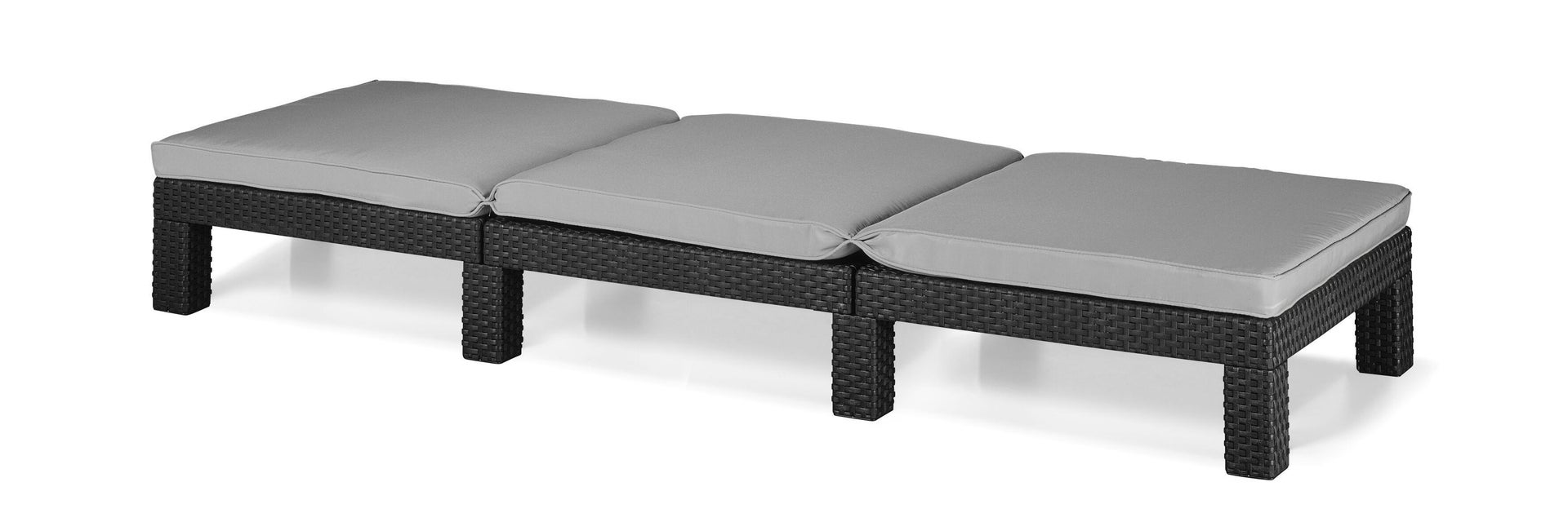 Lettino con cuscino in polipropilene Daytona grigio / argento L 120 x H 80 cm - 8