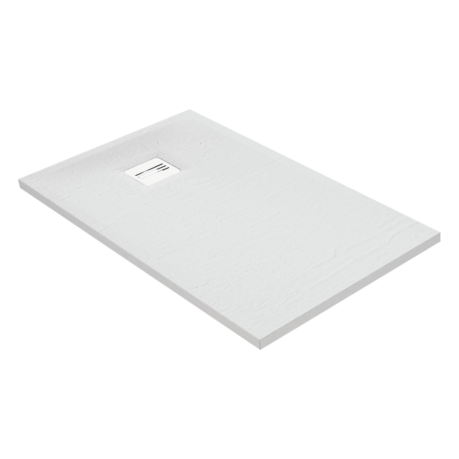 Piatto doccia ultrasottile resina sintetica e polvere di marmo Remix 70 x 120 cm bianco - 3