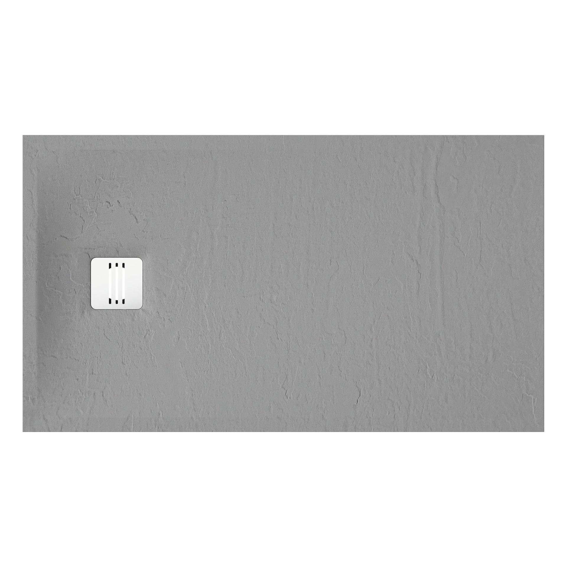 Piatto doccia ultrasottile resina sintetica e polvere di marmo Remix 80 x 140 cm grigio - 4