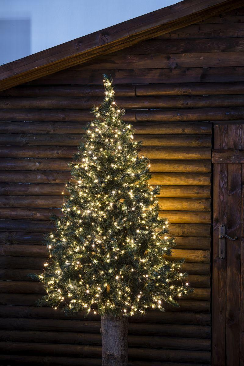 Catena luminosa 500 lampadine LED bianco caldo 37.5 m - 2