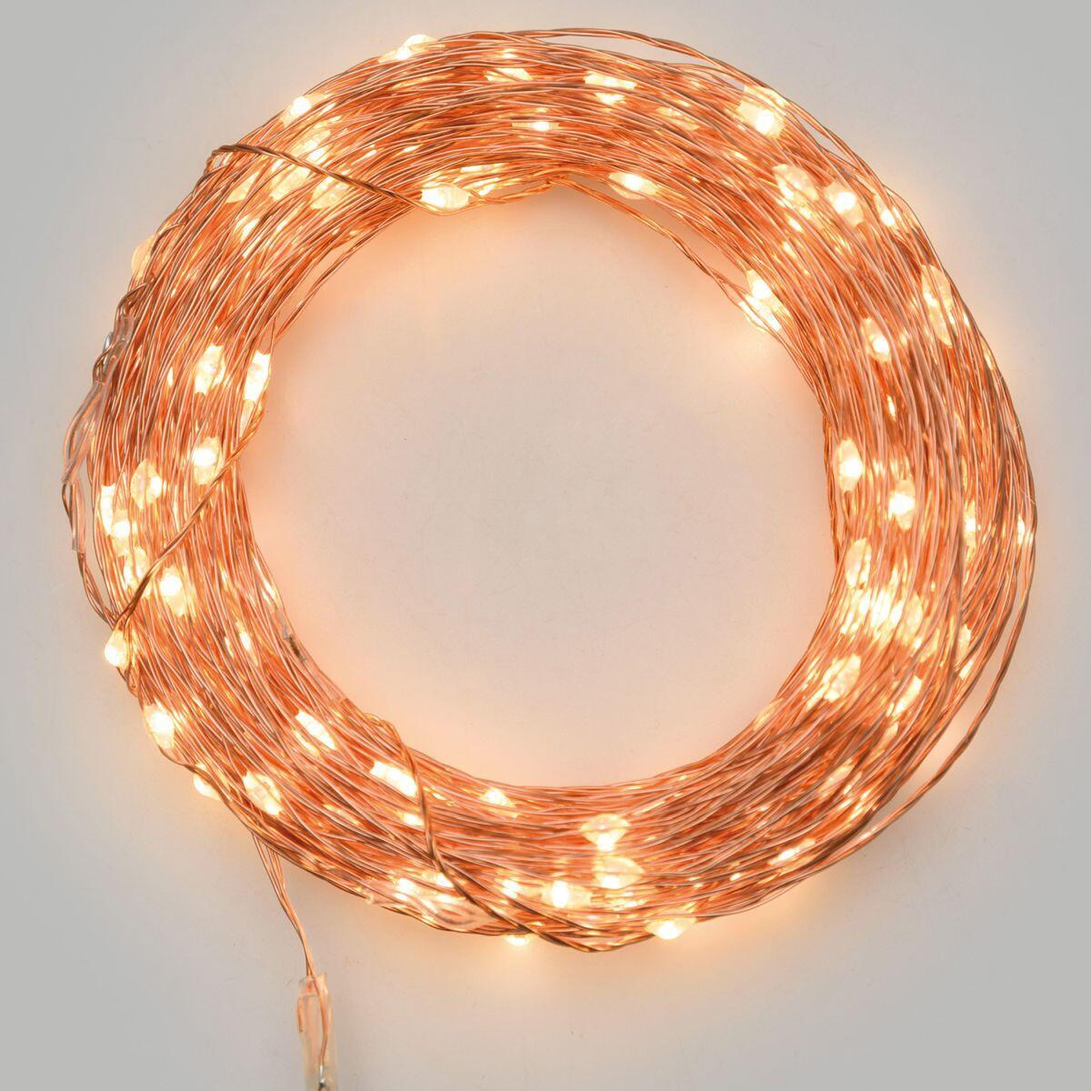 Catena luminosa 500 lampadine LED bianco caldo 37.5 m - 1