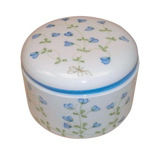Porta cotone Decoro 85/b in ceramica azzurro - 1