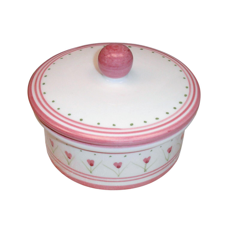 Porta cotone Decoro 198/r in ceramica multicolor