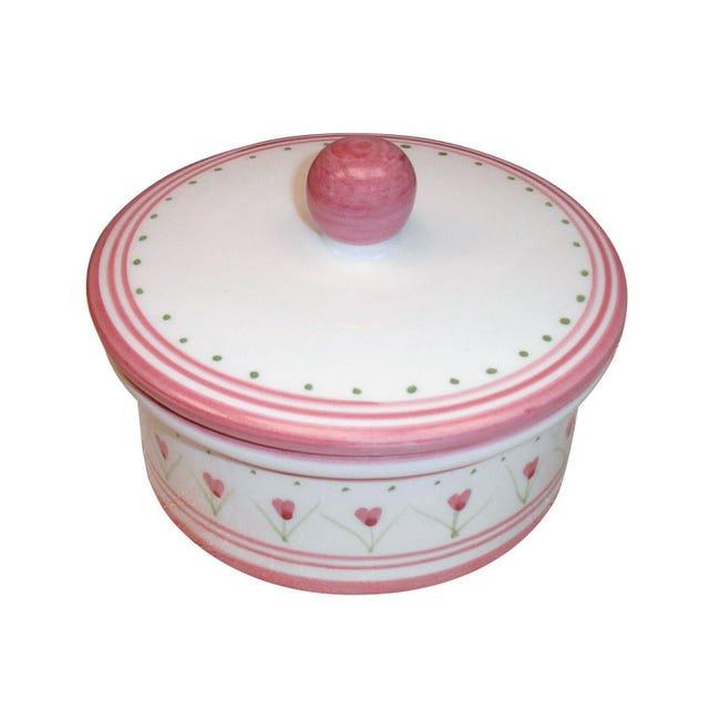 Porta cotone Decoro 198/r in ceramica multicolor - 1