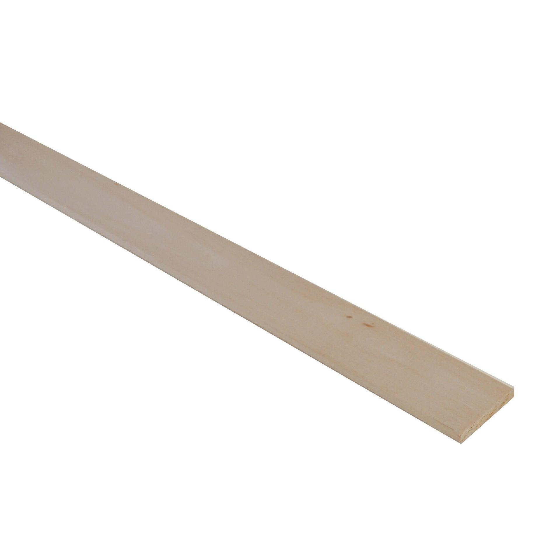 Listello piallato ayous 1 m x 40 mm, Sp 5 mm