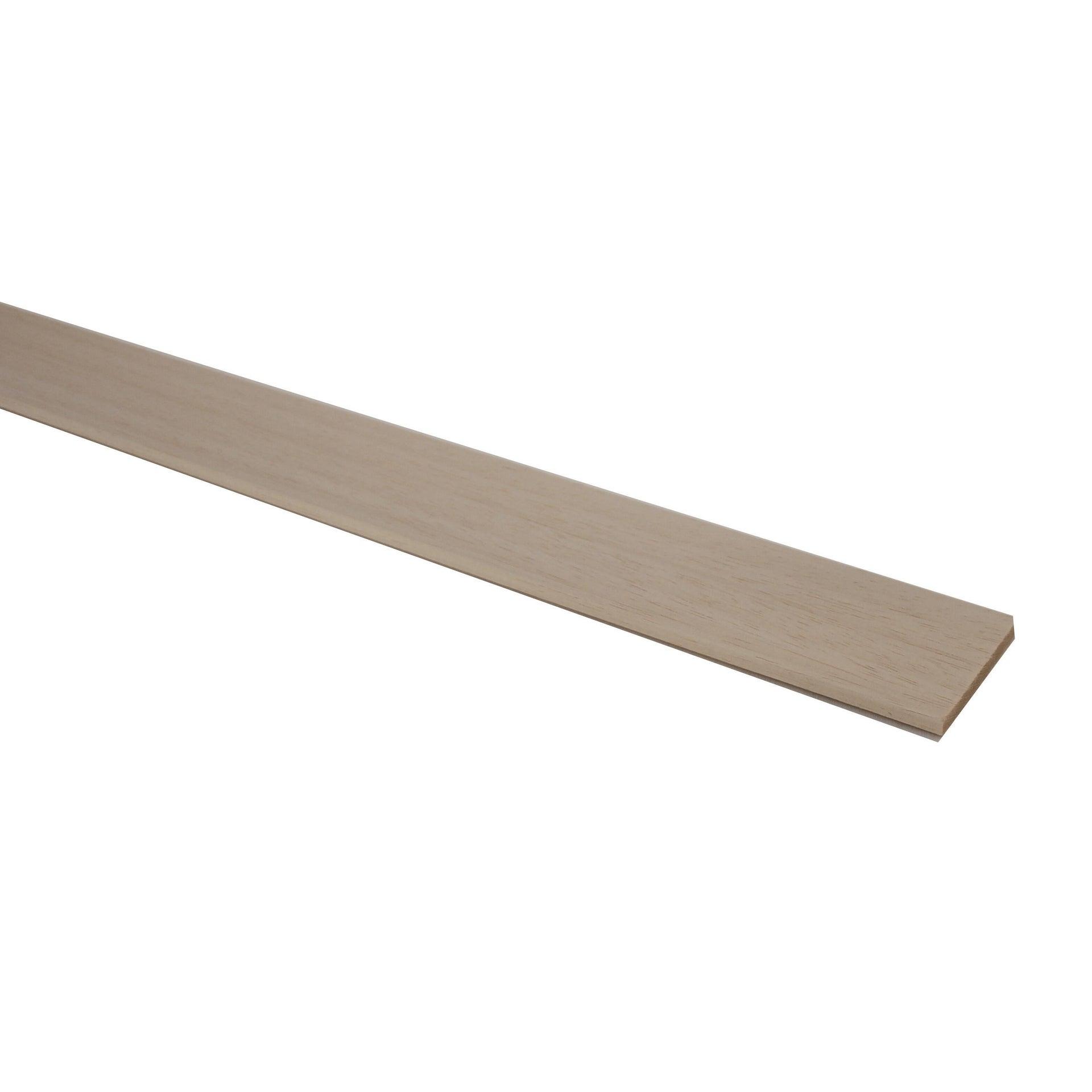 Listello piallato ayous 1 m x 50 mm, Sp 5 mm