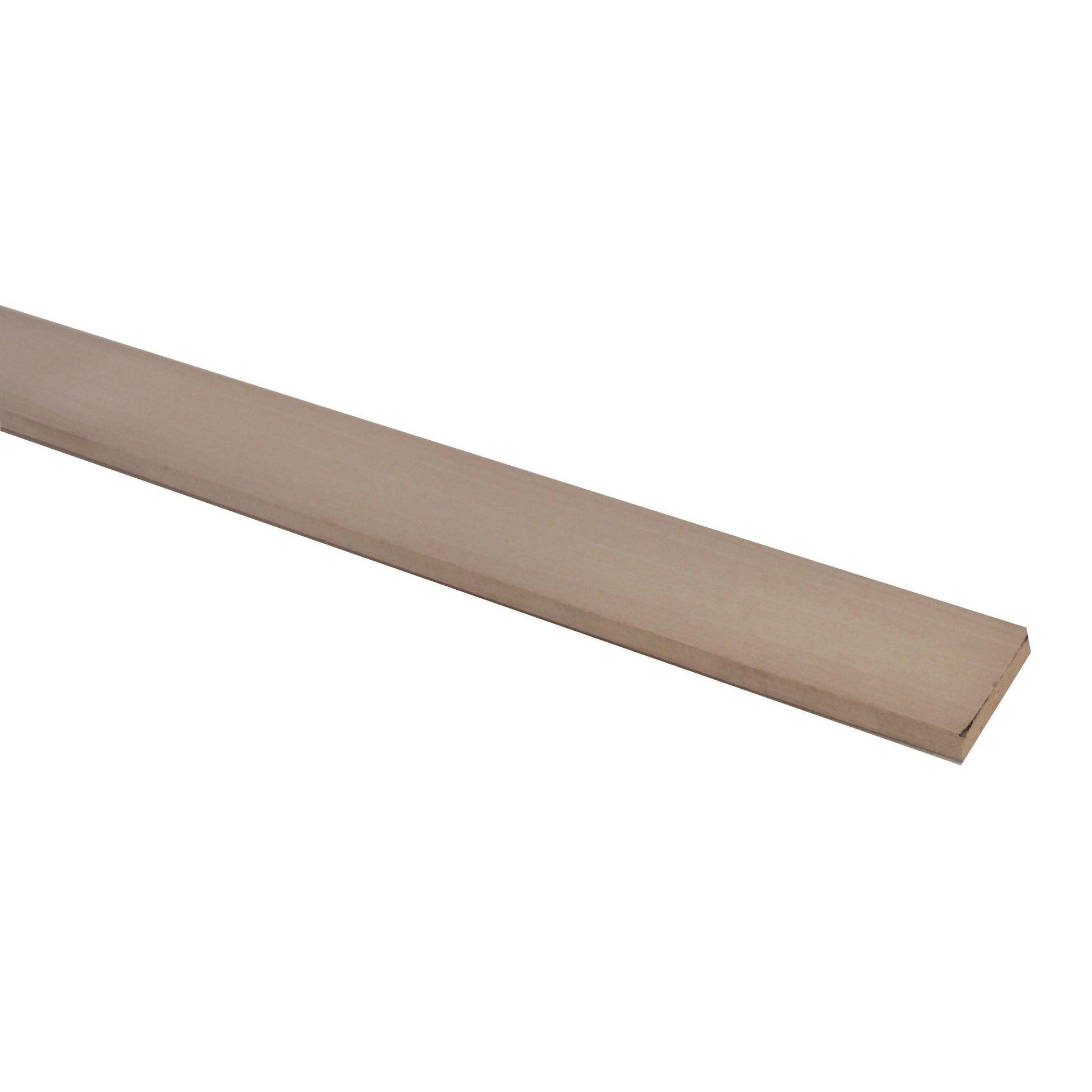 Listello piallato ayous 1 m x 40 mm, Sp 10 mm