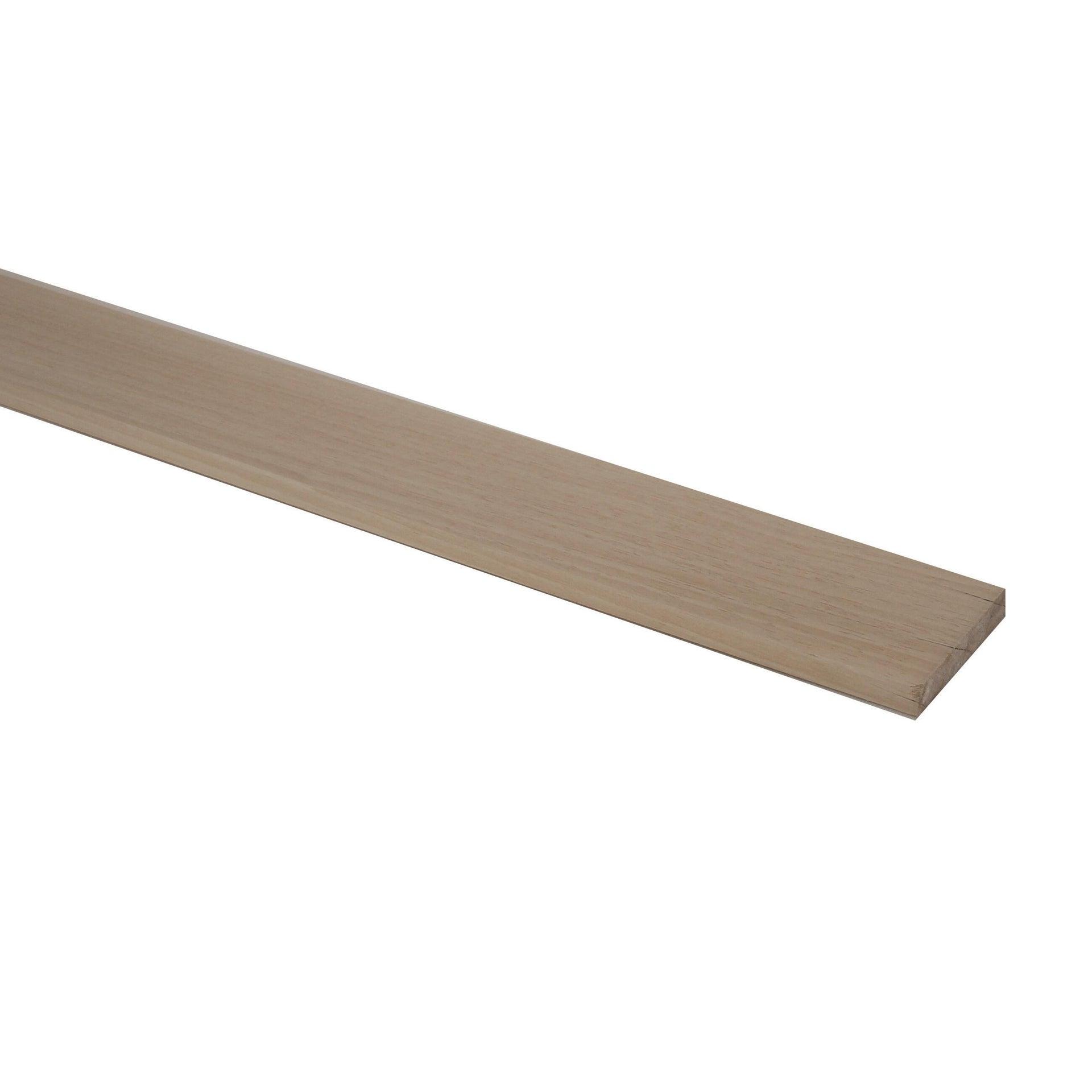 Listello piallato ayous 1 m x 50 mm, Sp 10 mm