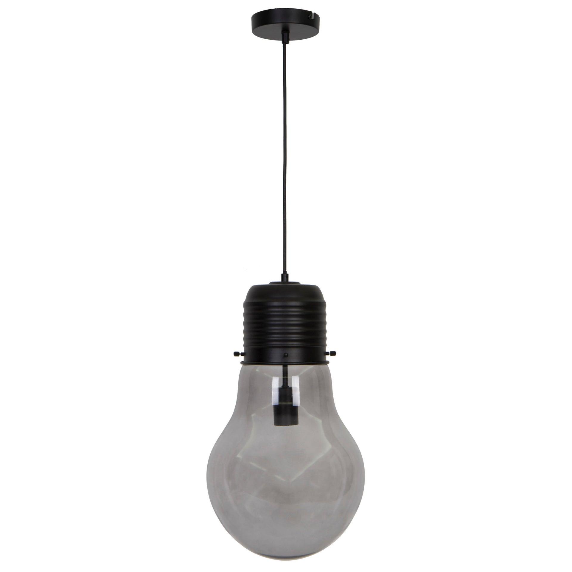 Lampadario Glamour Bombilla nero in cristallo, D. 28 cm, INSPIRE - 6