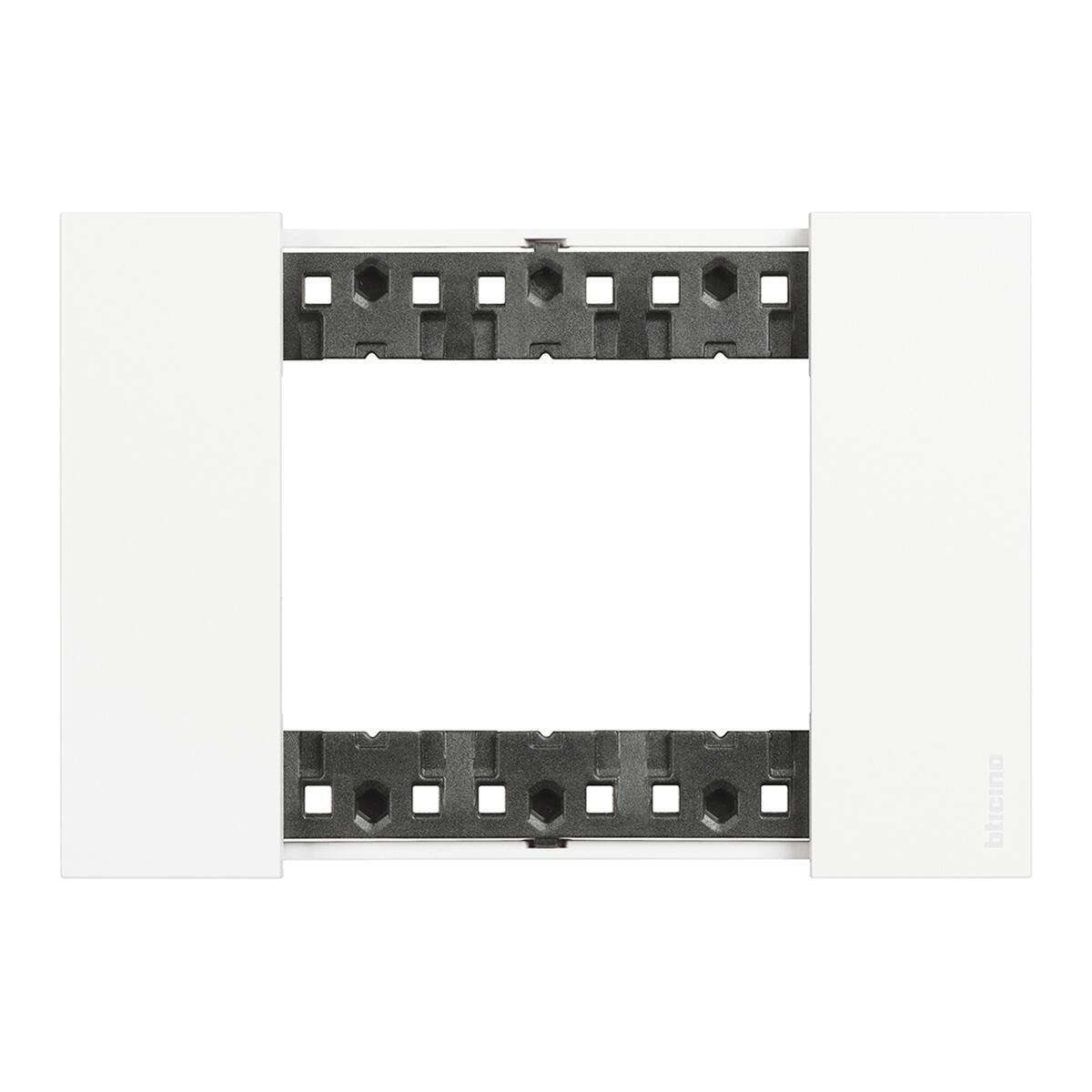 Placca BTICINO Living Now 3 moduli bianco - 2