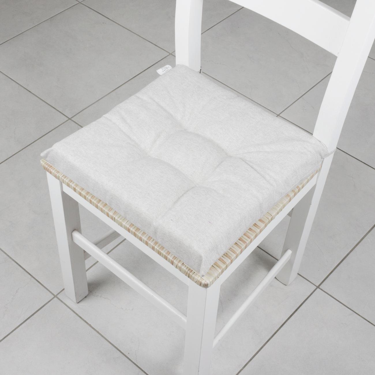 Cuscino per sedia Carlo grigio 40x40 cm - 2