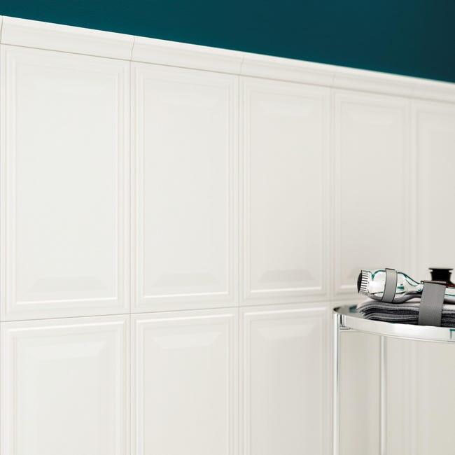 Piastrella per rivestimenti New Classic 30 x 56 cm sp. 10 mm bianco - 1