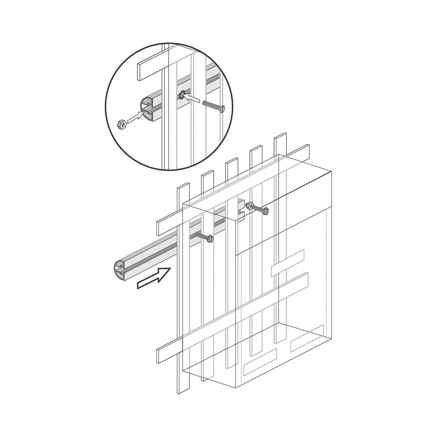 Kit di fissaggio Traversini in alluminio L 26 x H 2 cm - 3