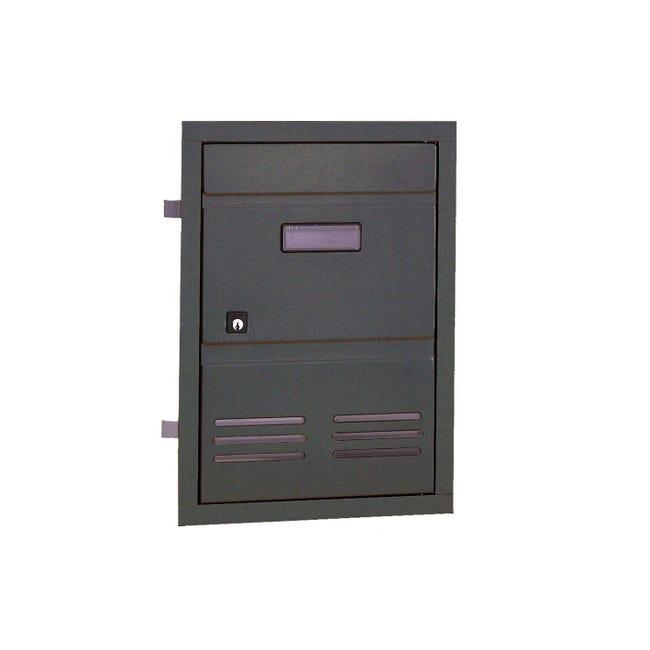 Sportello per cassetta postale ALUBOX da incasso in ghisa L 29 x H 40 cm - 1