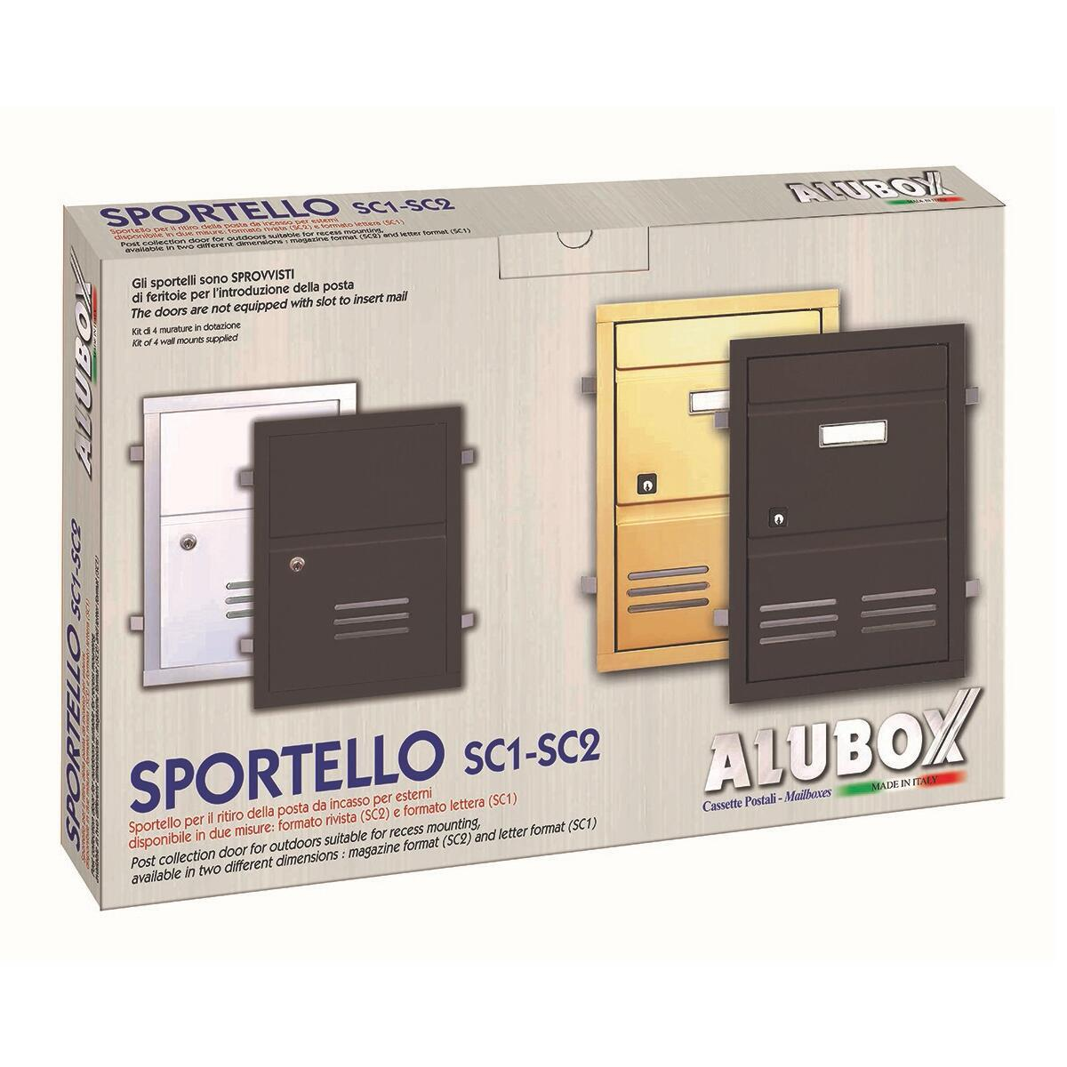 Sportello per cassetta postale ALUBOX da incasso in ghisa L 29 x H 40 cm - 2