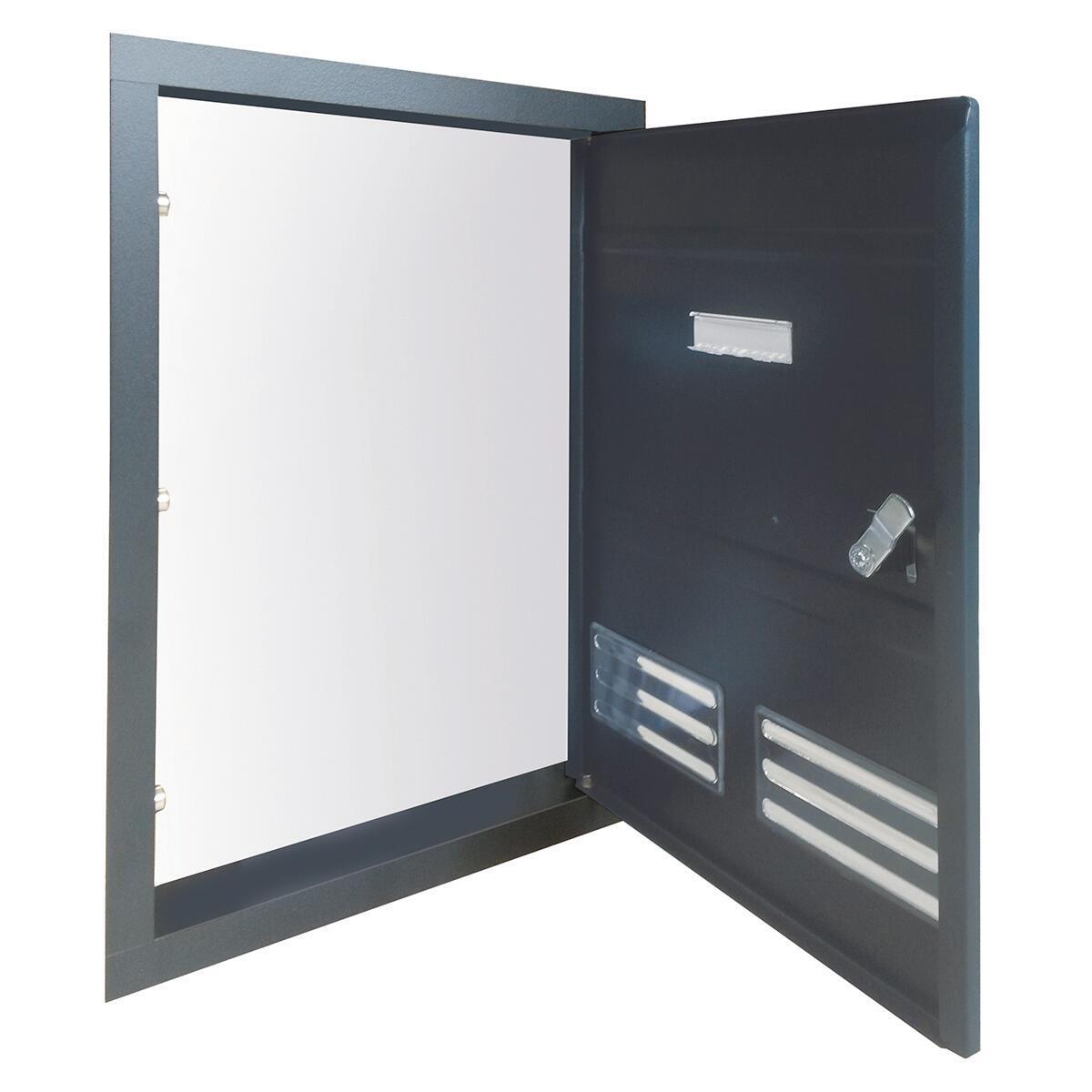 Sportello per cassetta postale ALUBOX da incasso in ghisa L 29 x H 40 cm - 3