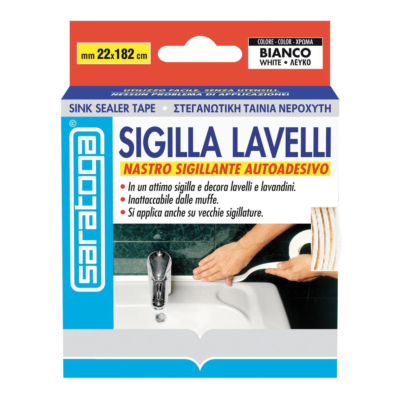 Sigillante SARATOGA Sigilla lavelli bianco 335 ml - 2