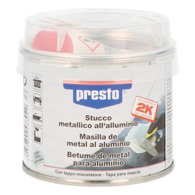 Stucco di riparazione metallo e calcestruzzo e legno e plastica rigida PRESTO metallico 250 g - 1