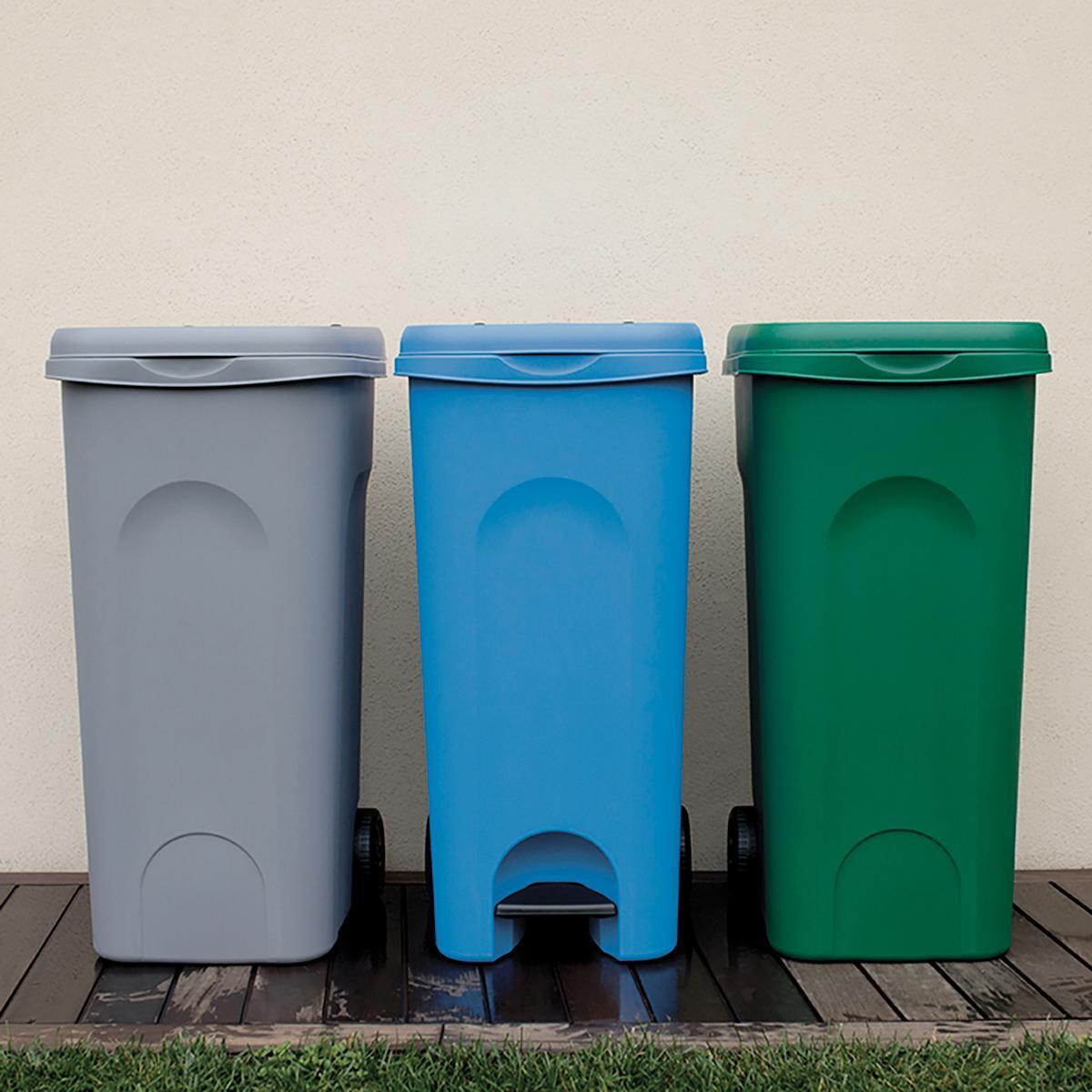 Bidone in plastica STEFANPLAST carrellato Urban Eco System 80 L, 2 ruote - 3