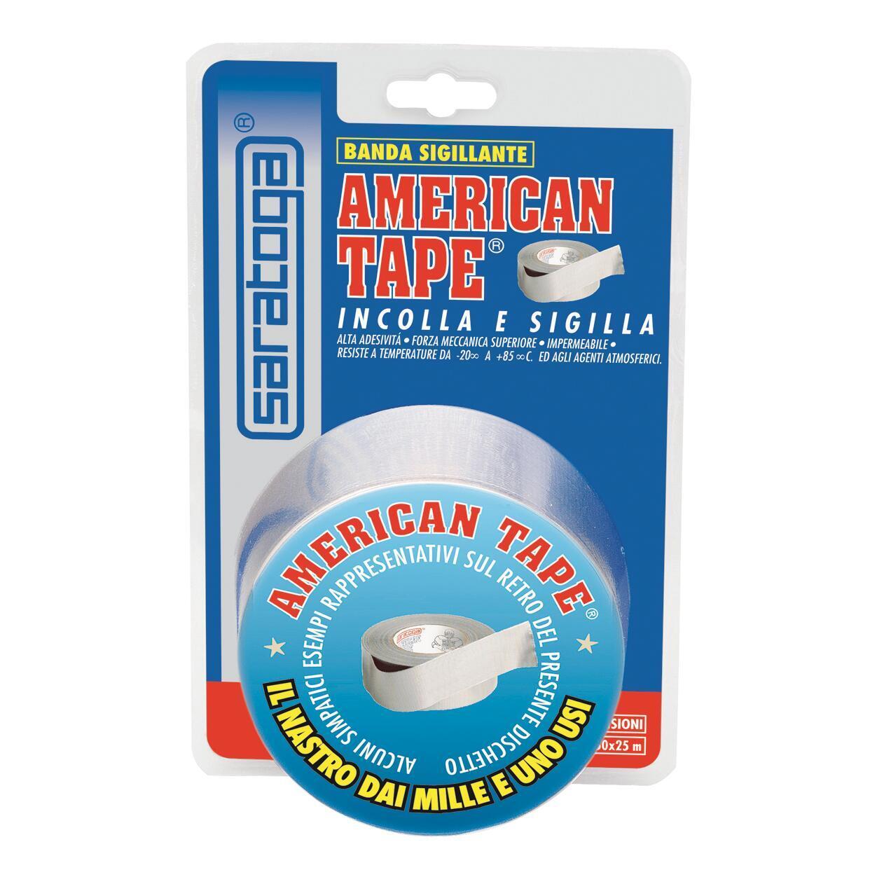 Nastro adesivo American Tape 25 m 50 mm x 25 m grigio - 2