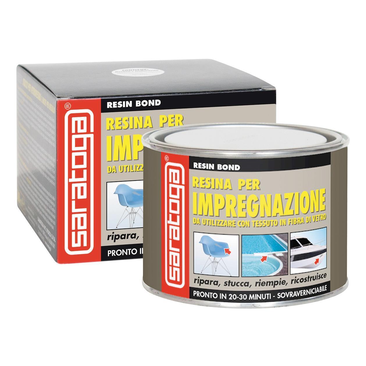 Stucco di riparazione metallo SARATOGA Resin Bond resina per impregnazione 500 ml - 1