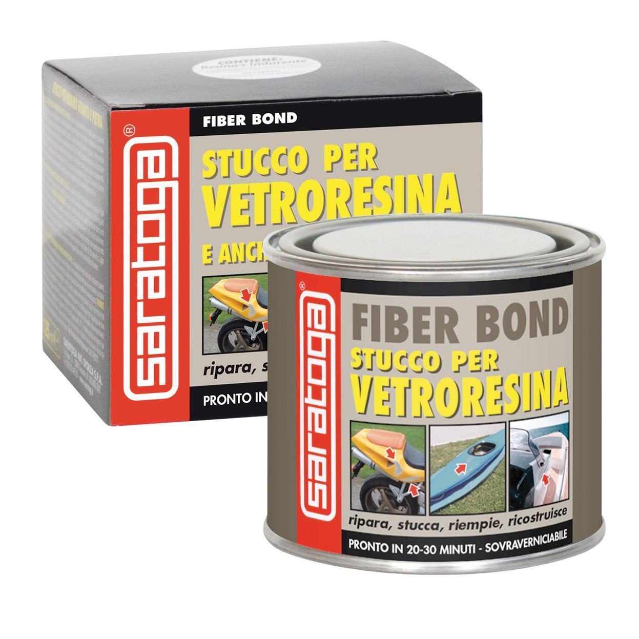 Stucco di riparazione plastica e vetroresina SARATOGA Fiber Bond 125 ml - 1