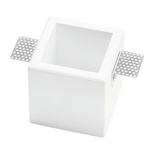 Faretto fisso da incasso quadrato Olympia in Gesso bianco, 9.5xGU10 MAX40W IP20 TECNICO - 1