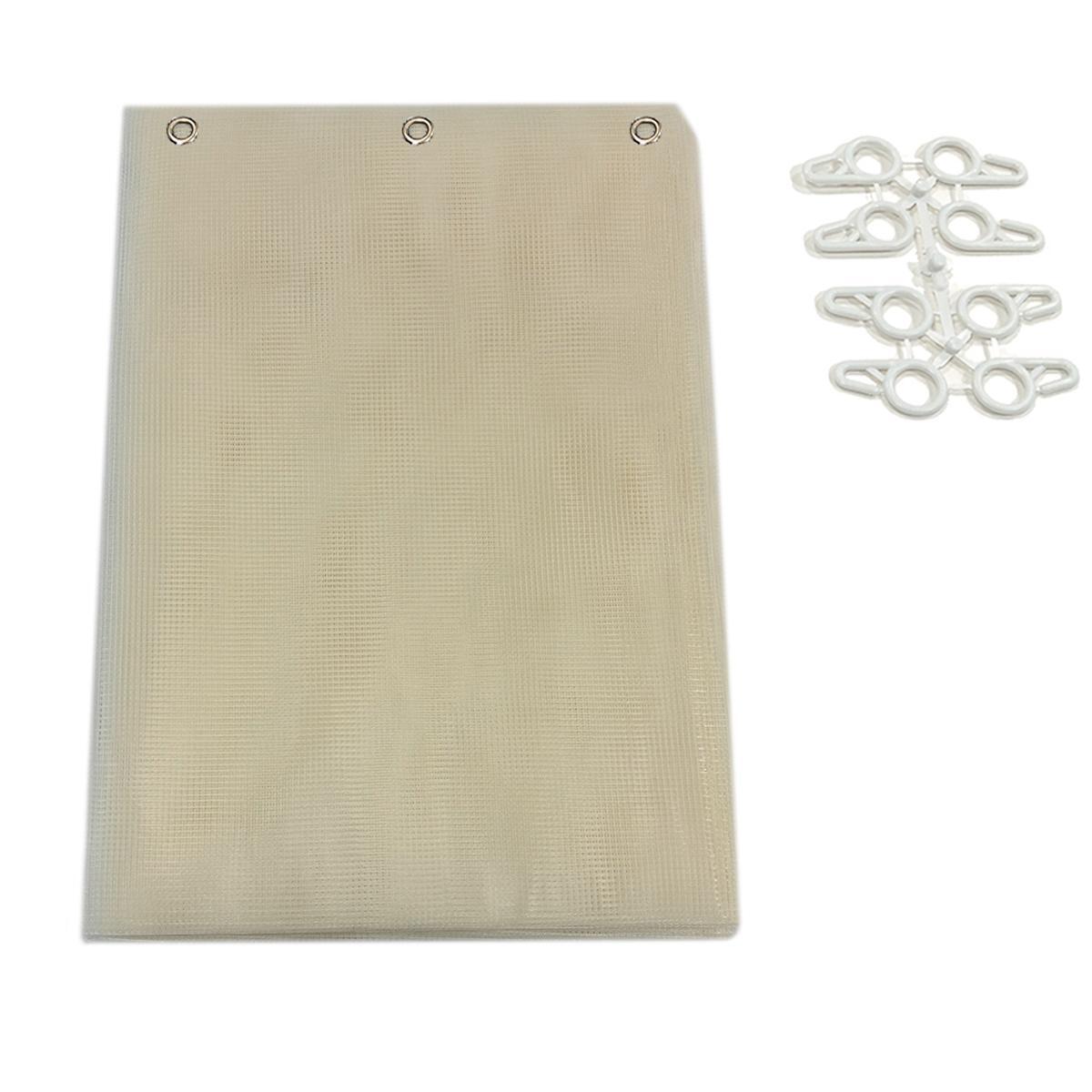Tenda zanzariera ad anelli L 150 x H 250 cm beige - 3