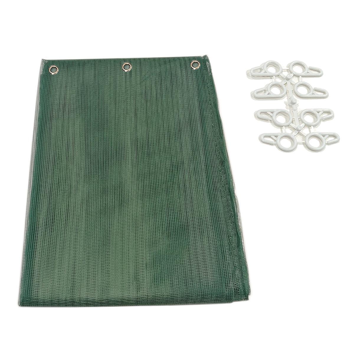 Tenda zanzariera ad anelli L 150 x H 250 cm verde - 2
