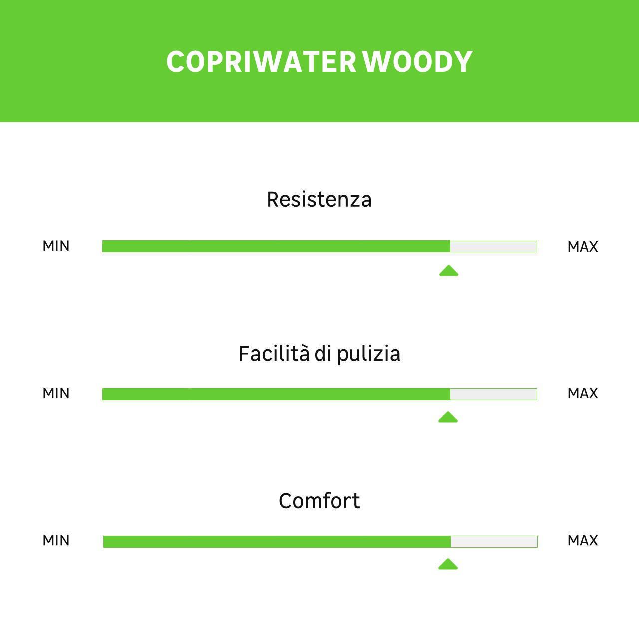 Copriwater ovale Universale Woody WIRQUIN legno massello bianco - 5