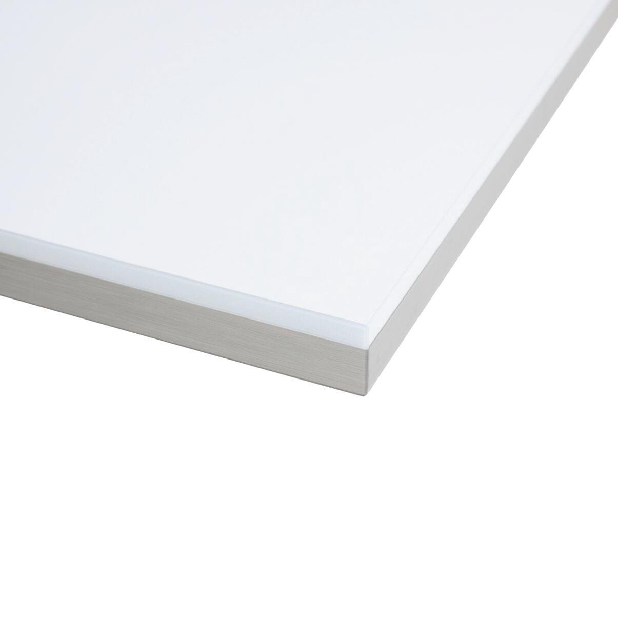 Piano cucina in laminato bianco lucido L 304 x P 63 cm, spessore 3.8 cm - 1