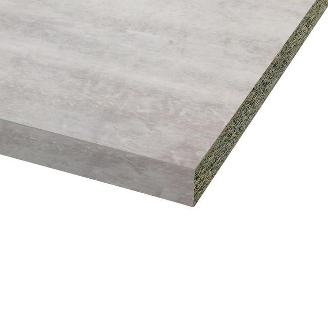 Piano cucina in laminato grigio cemento L 246 x P 63 cm, spessore 3.8 cm - 1