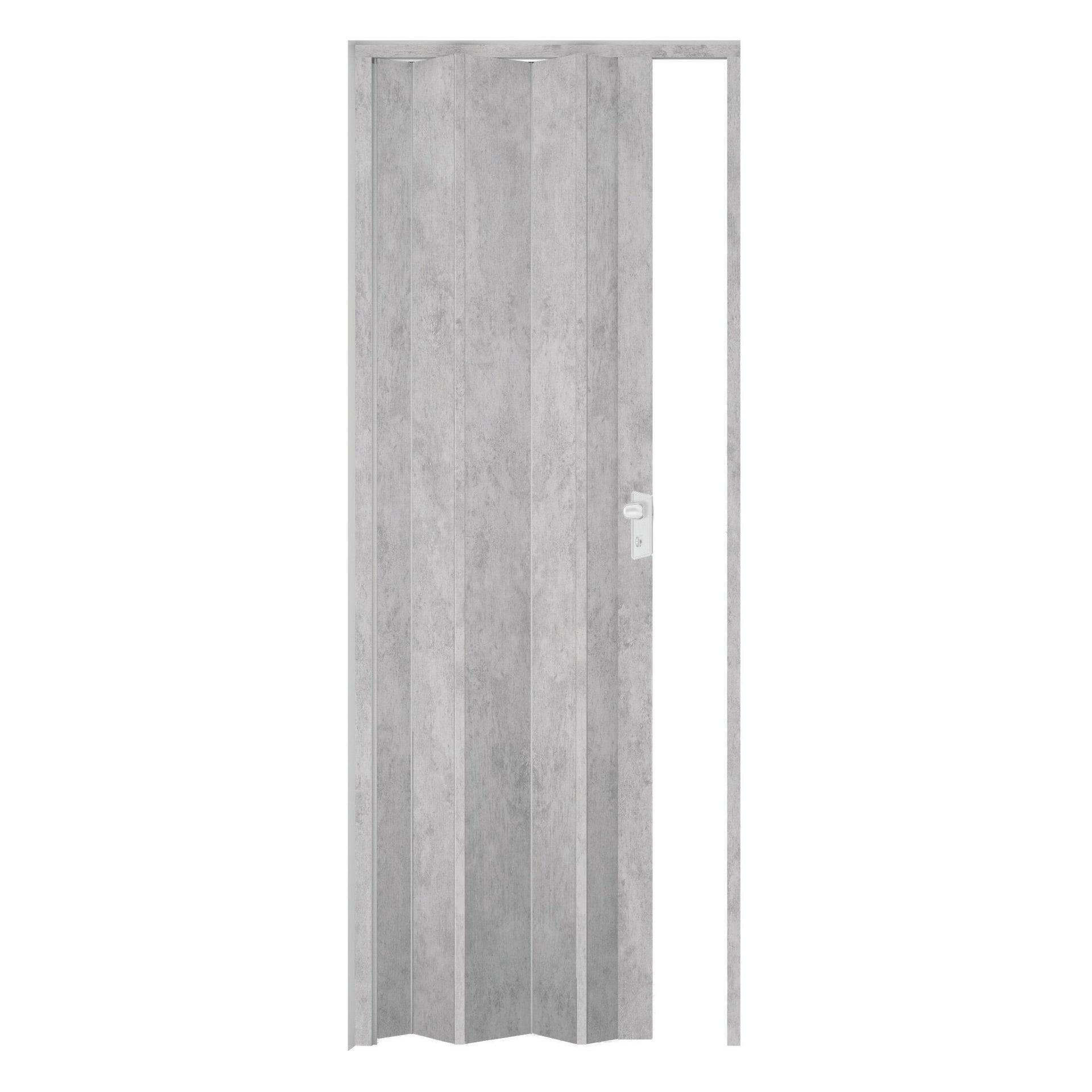 Porta a soffietto Maya in pvc cemento L 83 x H 214 cm