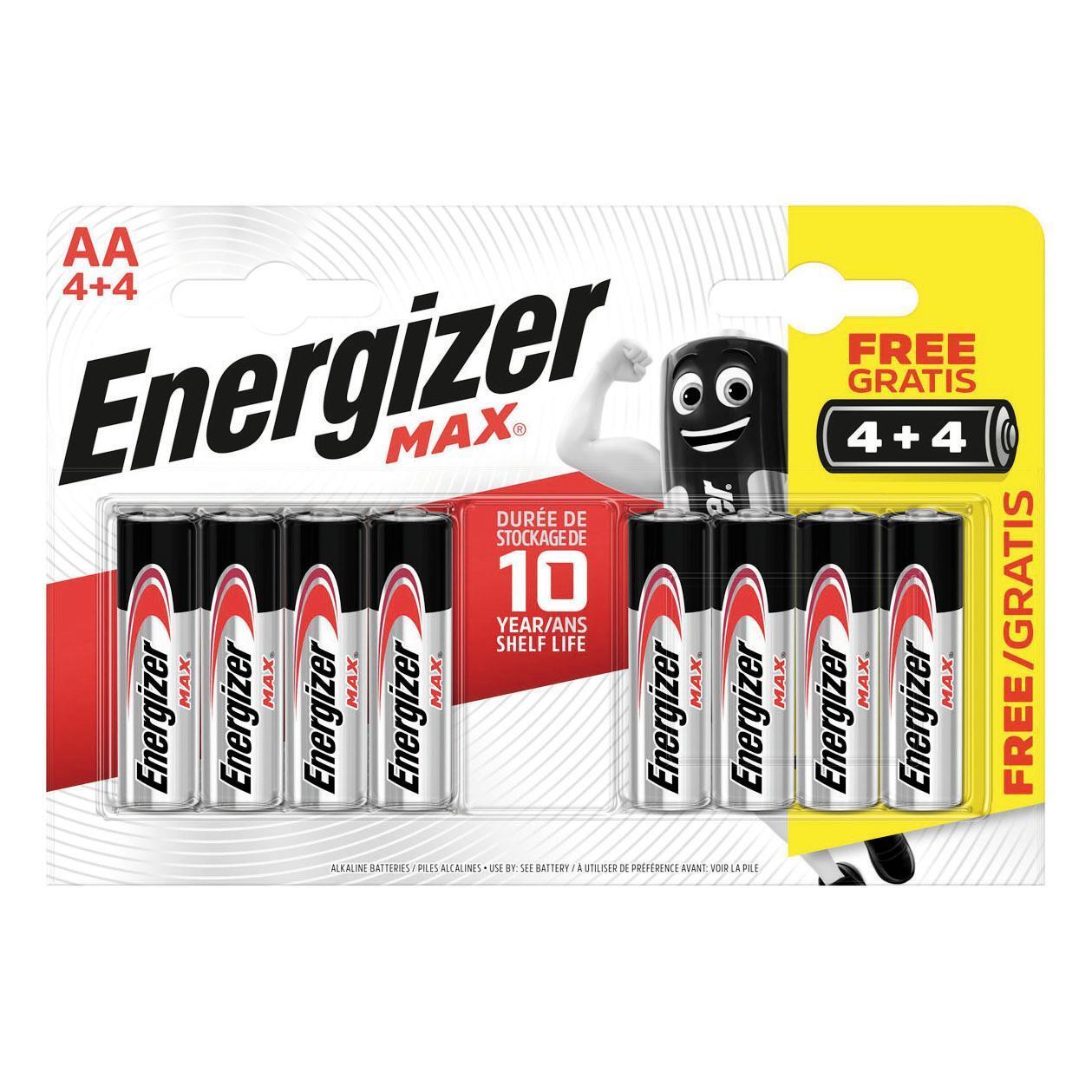 Pila alcalina AA ENERGIZER 8 batterie - 1