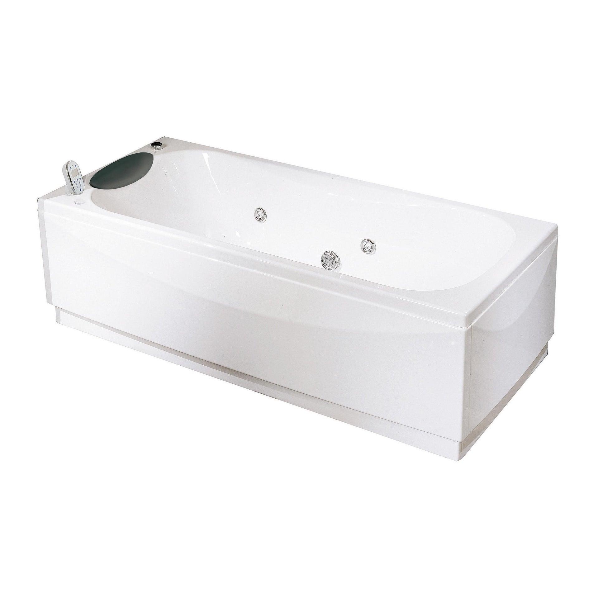 Vasca idromassaggio rettangolare Egeria,bianco ,170, 75 cm, 18 bocchette, - 2