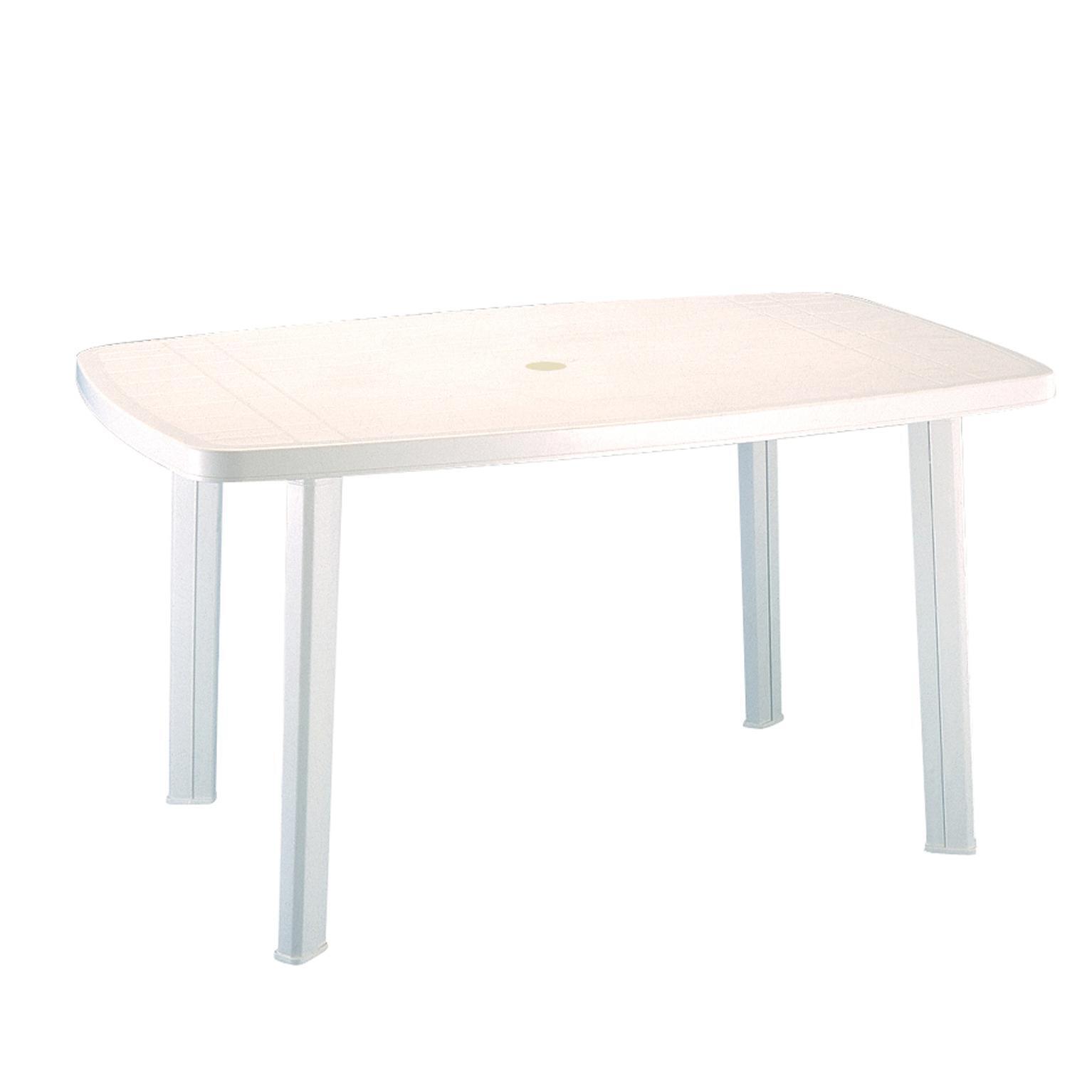 Tavolo da giardino rettangolare Faro con piano in resina L 85 x P 137 cm