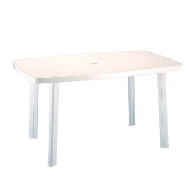 Tavolo da giardino rettangolare Faro con piano in resina L 85 x P 137 cm - 1