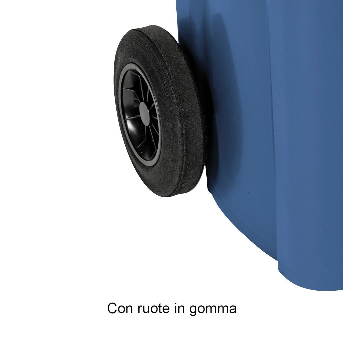 Bidone in plastica STEFANPLAST carrellato 120 L, 2 ruote - 5