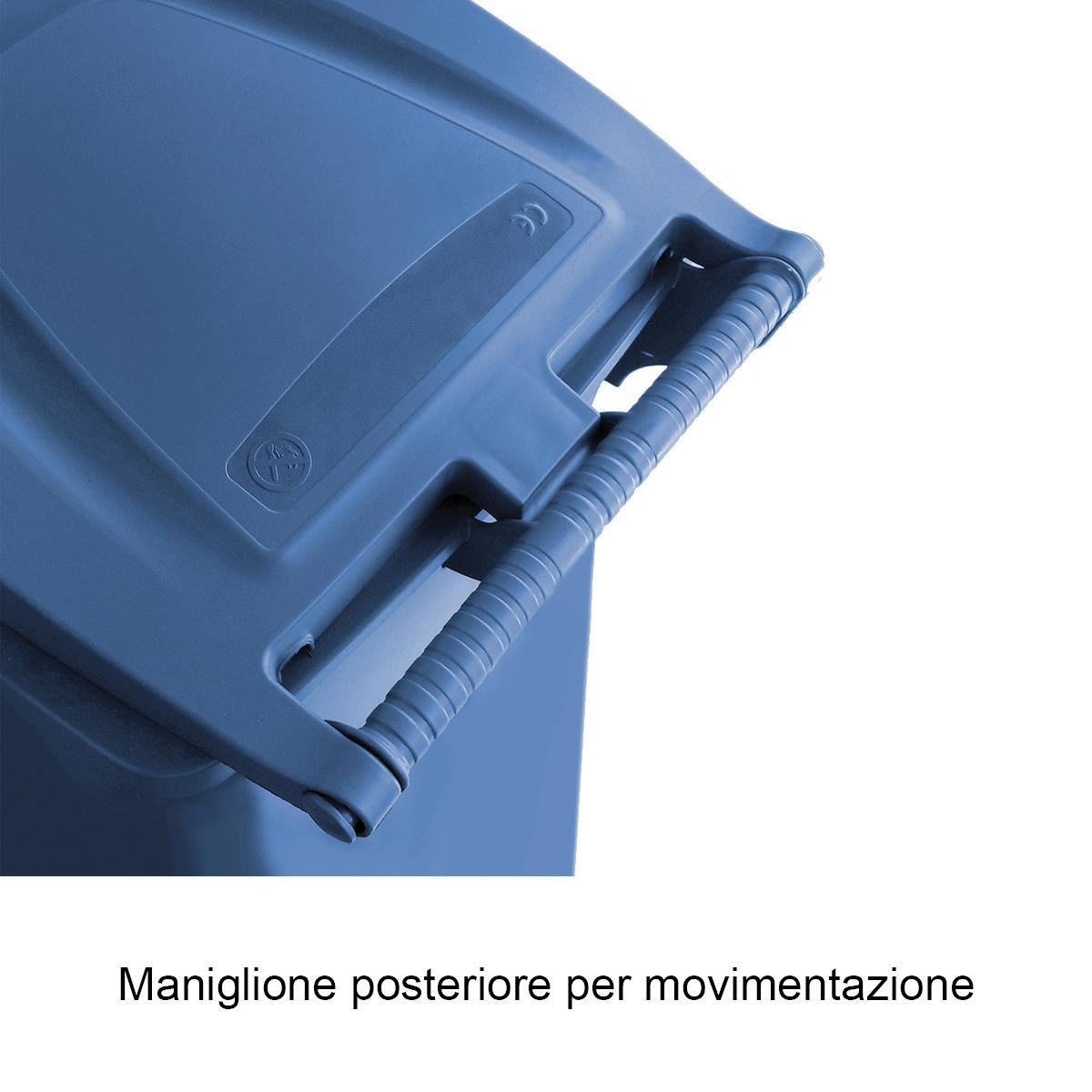 Bidone in plastica STEFANPLAST carrellato 120 L, 2 ruote - 2