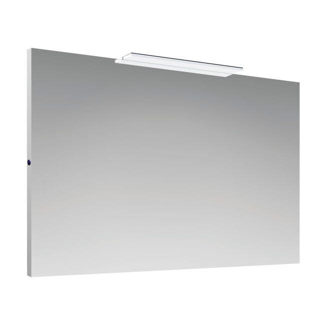 Specchio Con Illuminazione Integrata Bagno Rettangolare 7115 L 70 X H 100 Cm Sensea Leroy Merlin