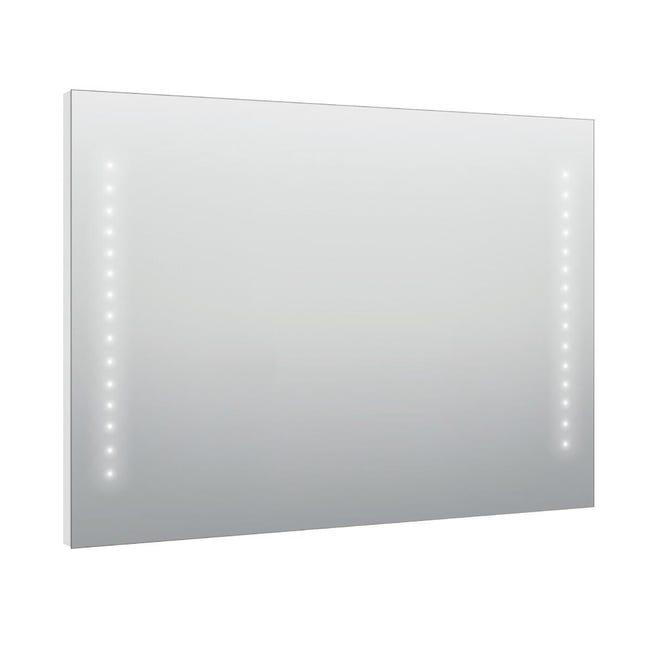 Specchio Con Illuminazione Integrata Bagno Rettangolare Hollywood L 90 X H 70 Cm Sensea Leroy Merlin