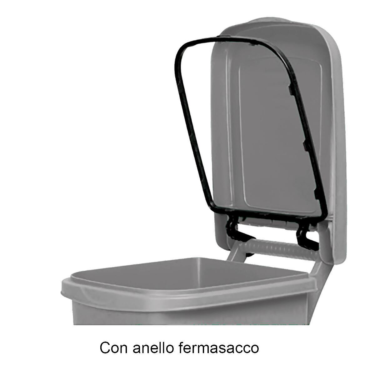 Bidone in plastica STEFANPLAST carrellato Urban Eco System 80 L, 2 ruote - 2