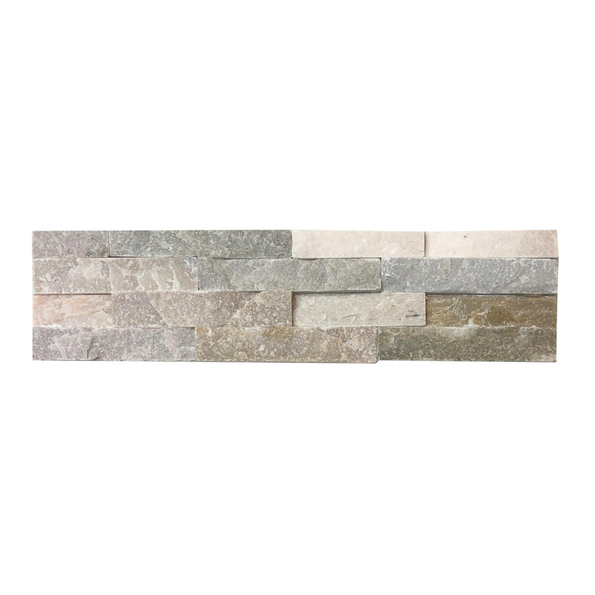 Rivestimento strutturato in pietra naturale Meru L 40 x L 10 cm, Sp 12 mm interno / esterno - 5