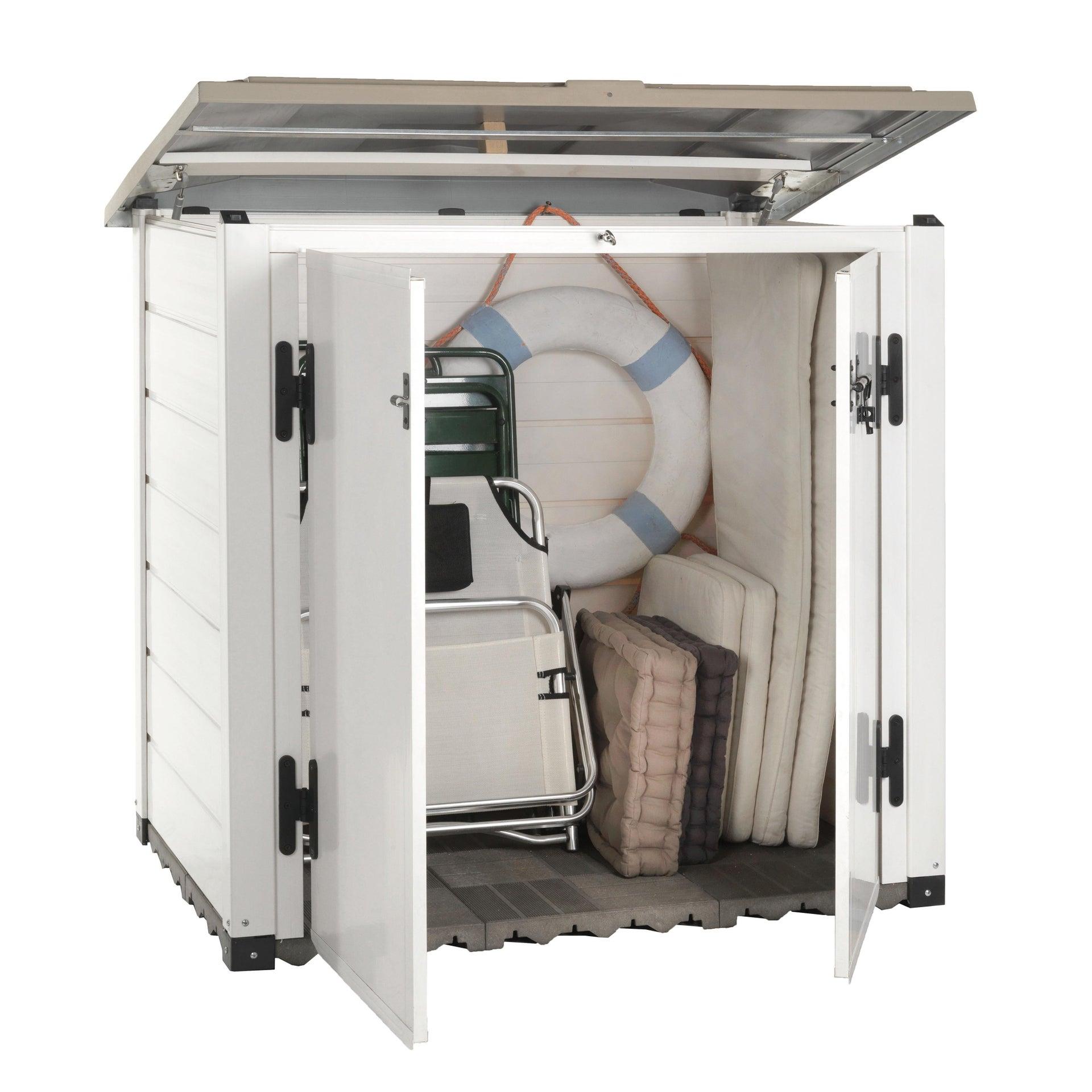 Box portattrezzi in resina GAROFALO Box Evo 100 L 122 x P 82.5 x H 133 cm - 3