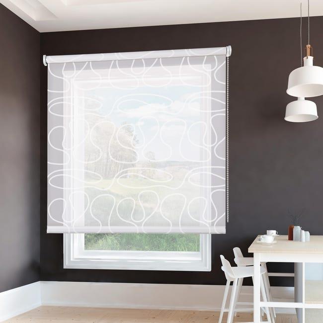 Tenda a rullo filtrante Duna bianco 45 x 250 cm - 1