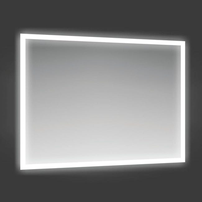 Specchio Con Illuminazione Integrata Bagno Rettangolare Fog L 90 X H 70 Cm Leroy Merlin